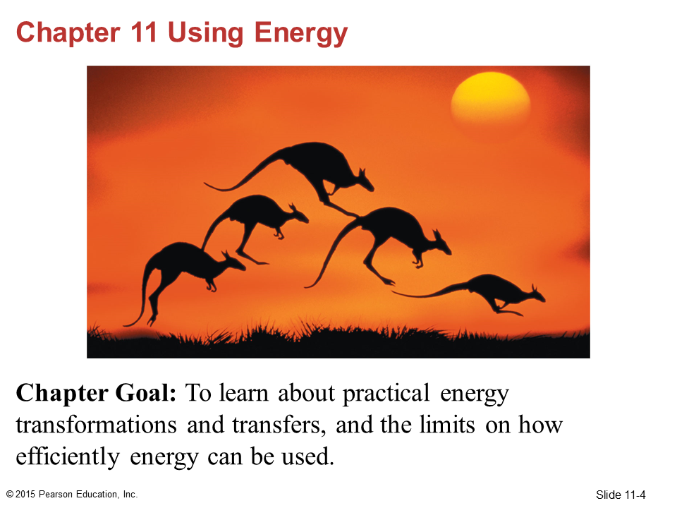 Chapter 11 Using Energy - Poulin's Physics